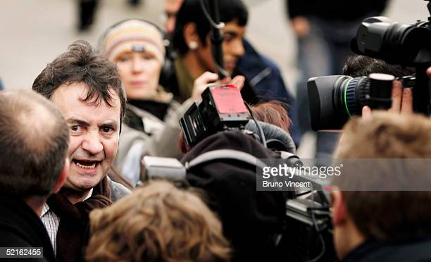 Gerry Conlon speaks to the press as he arrives at the Houses of Parliament February 9 2005 in London British Prime Minister Tony Blair is expected to...