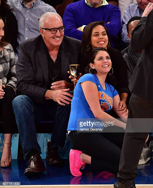 Gerry Cooney Cecily Strong and Amirah Vann attend Sacramento Kings vs New York Knicks game at Madison Square Garden on December 4 2016 in New York...