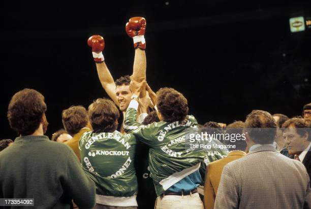 Gerry Cooney celebrates winning the fight against Ken Norton at Madison Square Garden in New York New York Gerry Cooney won by a TKO 1