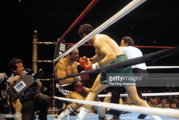 Gerry Cooney knocks out Ken Norton during the fight at Madison Square Garden in New York New York Gerry Cooney won by a TKO 1