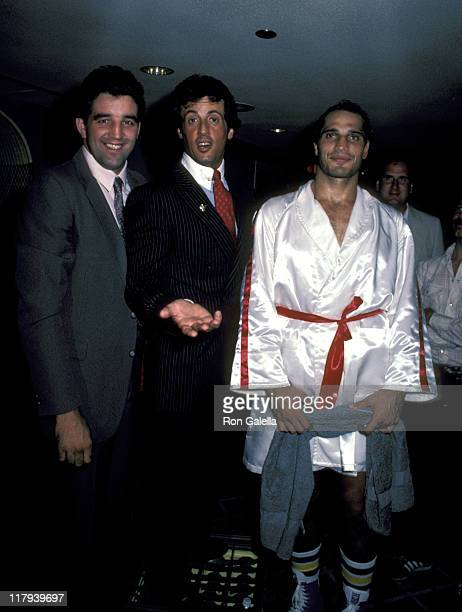 Gerry Cooney Sylvester Stallone And Lee Canalito