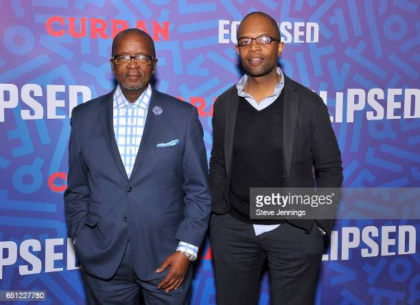 Gerry Dove and Herve' Ernest attend the celebration of Women's History Month on it's Opening Night of Eclipsed at the Curran Theater on March 9 2017...