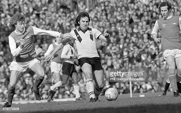 Gerry Francis of Crystal Palace with Graham Rix and Liam Brady of Arsenal during their First Division match at Highbury Stadium in London 22nd March...