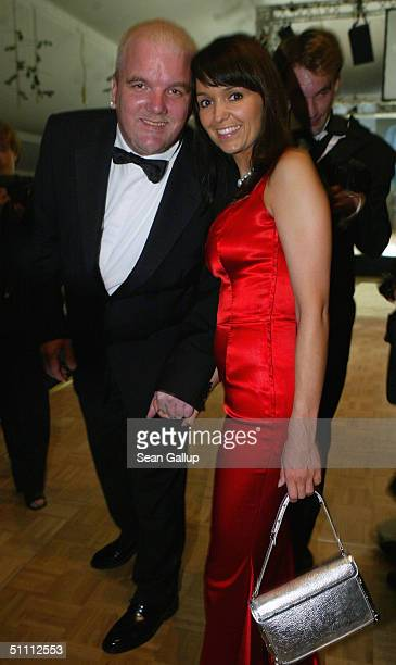 Gerry Friedle alias DJ Oetzi and his wife Sonja attend the Summer Night Ball at Hellbrunn Palace July 24 2004 in Salzburg Austria