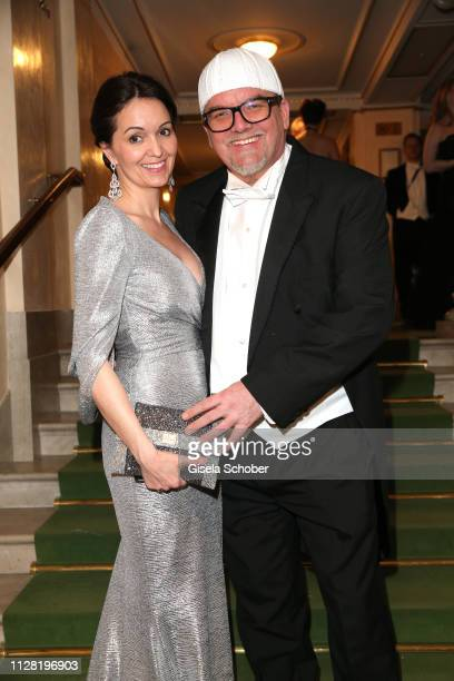 Gerry Friedle alias DJ Oetzi and his wife Sonja Friedle during the Opera Ball Vienna at Vienna State Opera on February 28 2019 in Vienna Austria