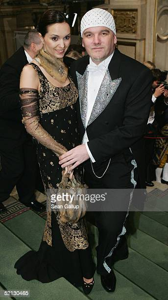 Gerry Friedle also known as DJ Oetzi and his wife Sonja attend the annual Vienna Opera Ball at the Vienna State Opera on February 3 2005 in Vienna...