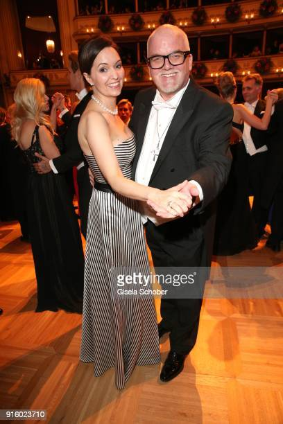 Gerry Friedle 'DJ Oetzi' and his wife Sonja Friedle dance during the Opera Ball Vienna at Vienna State Opera on February 8 2018 in Vienna Austria