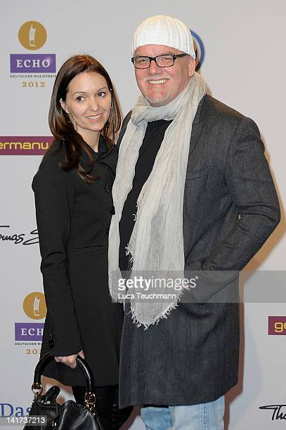 Gerry Friedle Sonja Friedle arrive for the Echo Awards 2012 at Palais am Funkturm on March 22 2012 in Berlin Germany