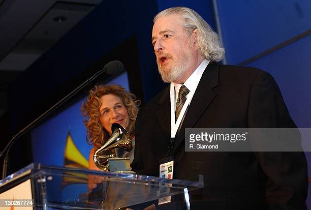 Gerry Goffin and Carole King during The 46th Annual GRAMMY Awards Nominee Reception and Special Awards Ceremony at California Science Center in Los...