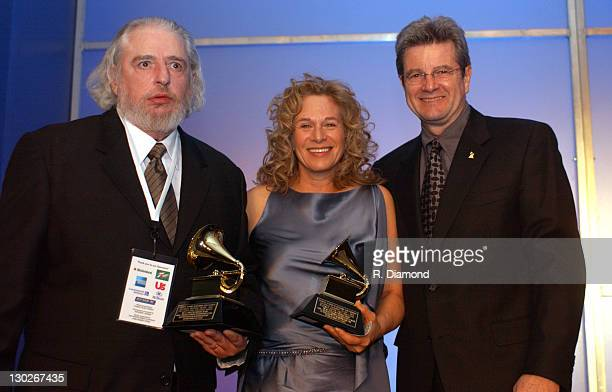 Gerry Goffin Carole King and Dan Carlin during The 46th Annual GRAMMY Awards Nominee Reception and Special Awards Ceremony at California Science...