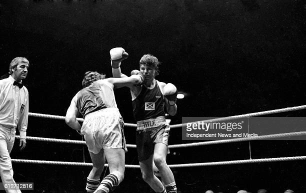 Gerry Hawkins and Ronnie Carroll in the Flyweight Contest at The National Stadium circa January 1983