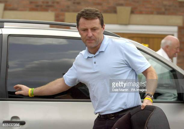 Gerry McCann father of Madeleine arrives back home in Rothley Leicestershire today