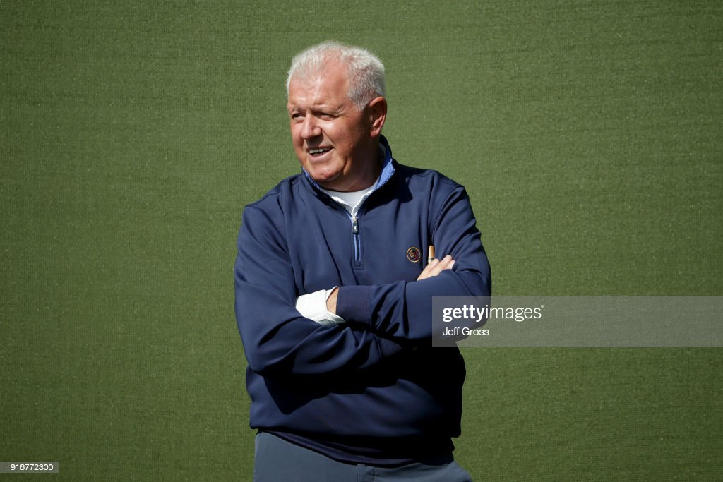 Gerry McIlroy looks on plays his shot from the 10th tee during Round Three of the AT&T Pebble Beach Pro-Am at Pebble Beach Golf Links on February 10, 2018 in Pebble Beach, California.