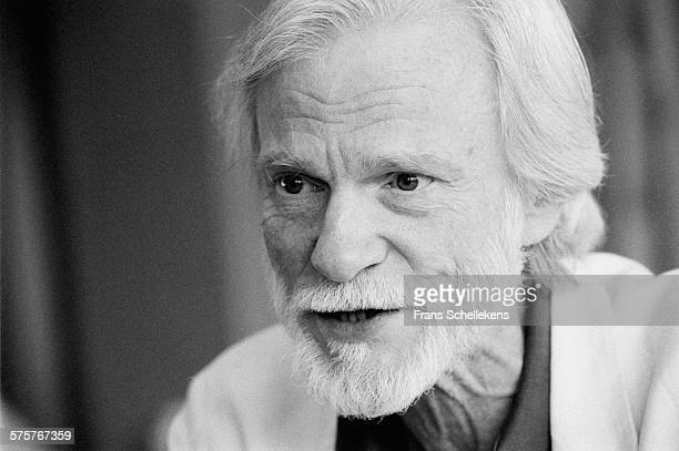 Gerry Mulligan, baritone sax, poses on July 12th 1991 at the North Sea Jazz Festival in the Hague, Netherlands.
