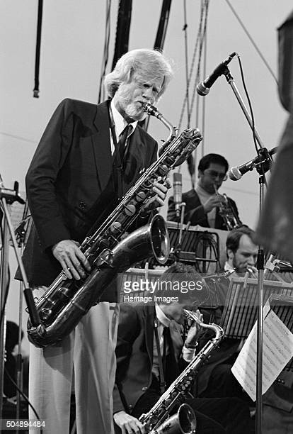 Gerry Mulligan Capital Jazz Festival Knebworth Park Stevenage 1982 Photographer Brian O'Connor