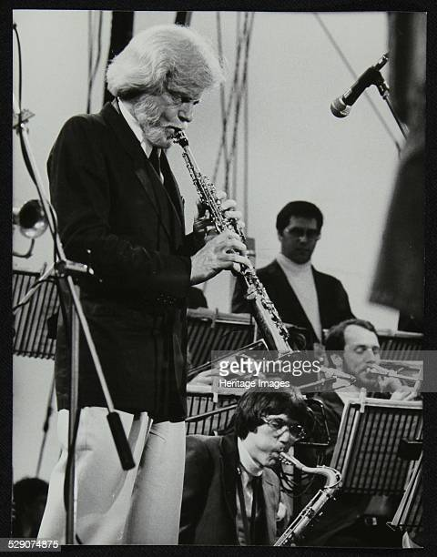 Gerry Mulligan playing at the Capital Radio Jazz Festival, Knebworth, Hertfordshire, July 1982. Artist: Denis Williams .