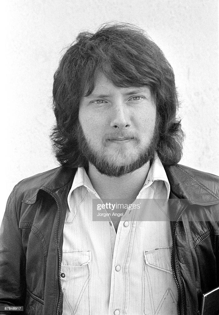 Gerry Rafferty from Stealers Wheel posed outside Copenhagen, Denmark in April 1974