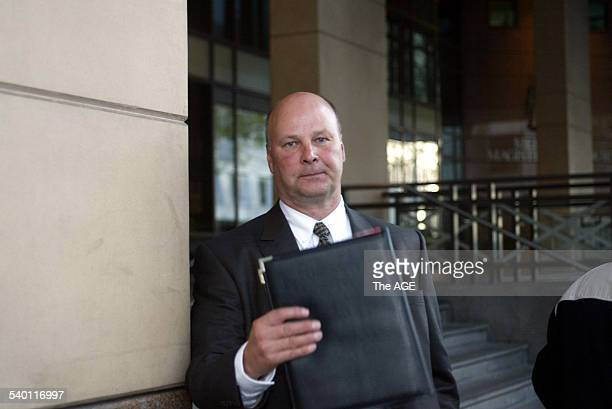 Gerry Skura outside court as his wife Dorothy Skura stands trial for inciting an undercover policeman to murder him 29 May 2003 THE AGE Picture by...