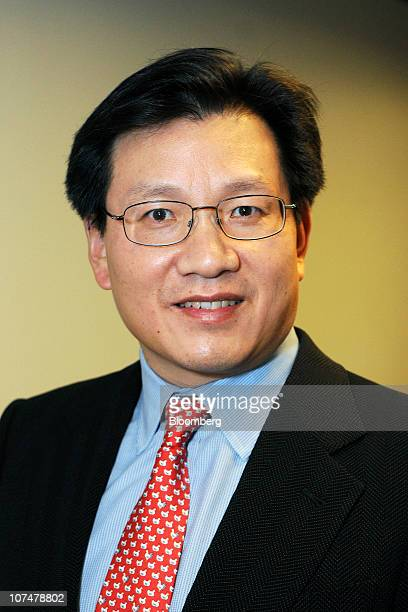 Gerry Wang chief executive officer of Seaspan Corp poses for a photograph before a television interview in New York US on Wednesday Dec 8 2010 Wang...