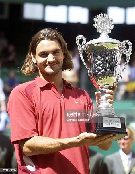 Gerry Weber Open 2003 Halle Finale Jubel Sieger Roger FEDERER/SUI