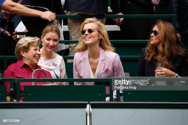 Gerry Weber testimonial international supermodel Eva Herzigova , her sister Lenka Vysinova , her mother Eva Herzigova and Irina Weber during the...