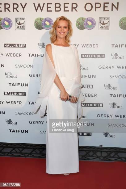 Gerry Weber testimonial international supermodel Eva Herzigova attends the Gerry Weber Open Fashion Night 2018 at Gerry Weber Stadium on June 23 2018...