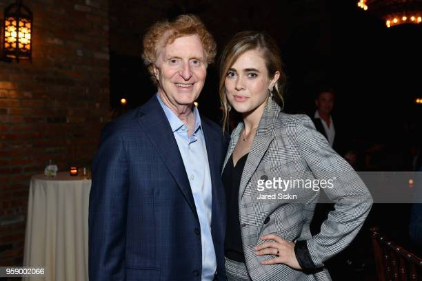 Gersh Agency CoPresident Bob Gersh and Melissa Roxburgh attend the Gersh Upfronts Party 2018 at The Bowery Hotel on May 15 2018 in New York City