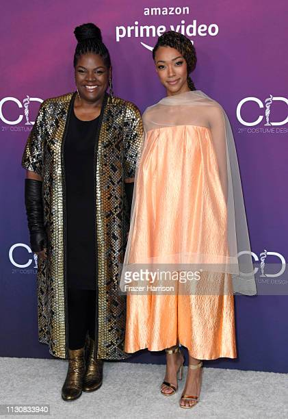 Gersha Phillips and Sonequa MartinGreen attend The 21st CDGA at The Beverly Hilton Hotel on February 19 2019 in Beverly Hills California
