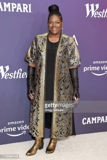 Gersha Phillips arrives at the 21st CDGA at The Beverly Hilton Hotel on February 19 2019 in Beverly Hills California