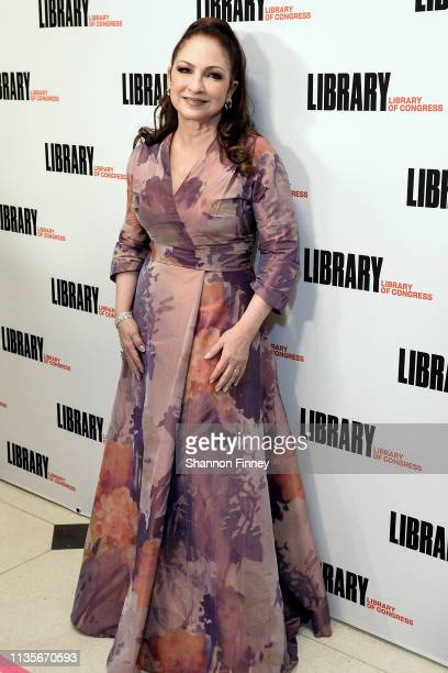 Gershwin Prize recipient Gloria Estefan on the red carpet at the 2019 Gershwin Prize Honoree's Tribute Concert at DAR Constitution Hall on March 13...