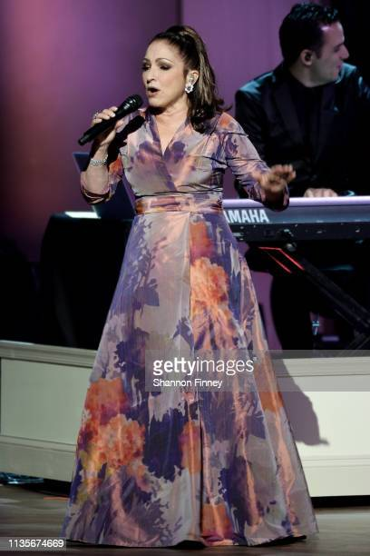 Gershwin Prize recipient Gloria Estefan performs at the 2019 Gershwin Prize Honoree's Tribute Concert at DAR Constitution Hall on March 13 2019 in...