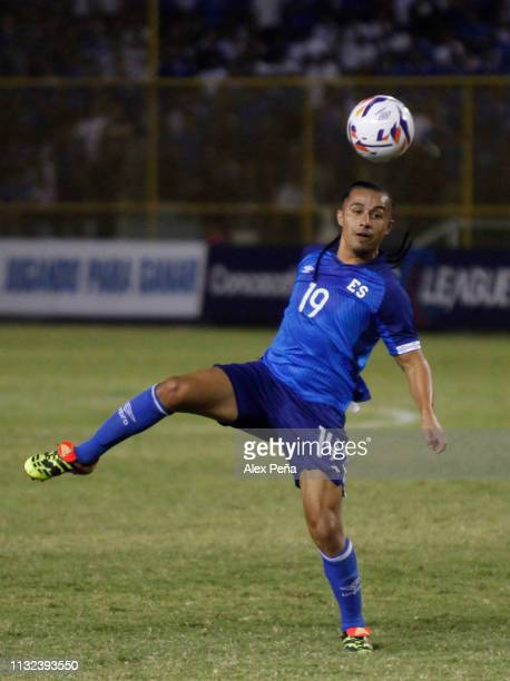 Gerson Mayen of El Salvador dribblestries to control the ball during a match between El Salvador and Jamiaca as part of the CONCACAF Gold Cup 2019...