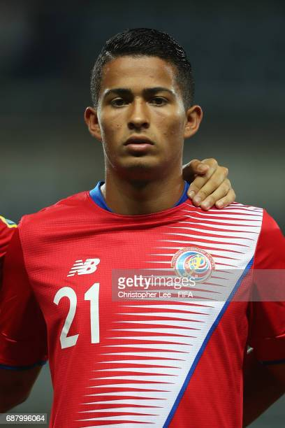 Gerson Torres of Costa Rica during his teams national anthem during the FIFA U20 World Cup Korea Republic 2017 group C match between Costa Rica and...