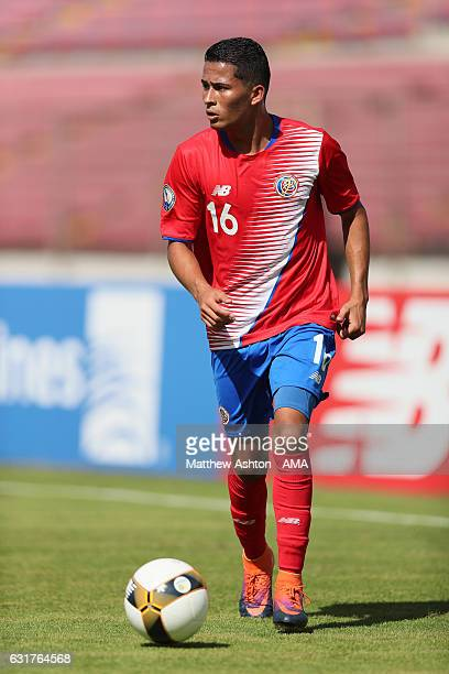 Gerson Torres of Costa Rica in action during the Copa Centroamericana match between Belize and Costa Rica at Estadio Rommel Fernandez on January 15...