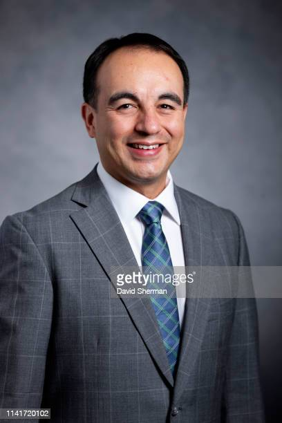 Gersson Rosas newly appointed Minnesota Timberwolves President of Basketball Operations poses for a portrait on May 6 2019 at Target Center in...