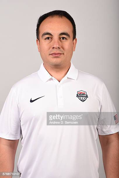 Gersson Rosas of the USA Basketball Men's National Team poses for a headshot at the Wynn Las Vegas on July 17 2016 in Las Vegas Nevada NOTE TO USER...