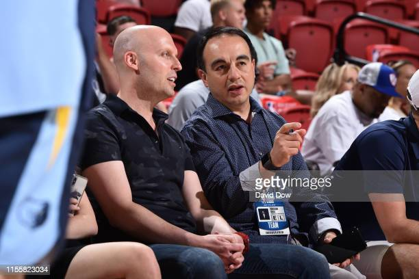 Gersson Rosas President of Basketball Operations of the Minnesota Timberwolves attends a game between the Memphis Grizzlies and the Minnesota...