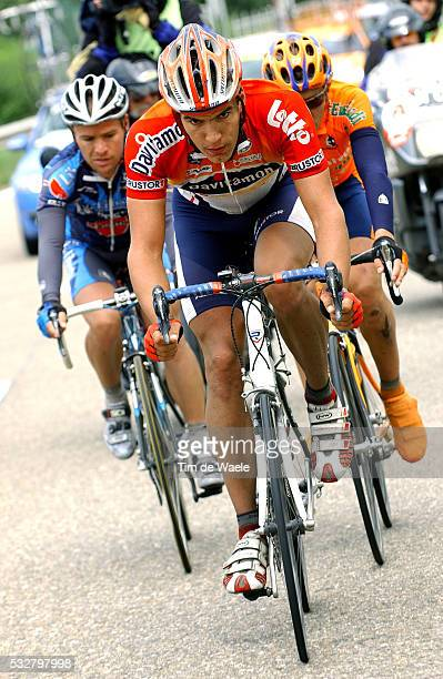 Gert Steegmans and Miguel Moreira Paulinho during stage 6 of the 2005 Eneco tour between Verviers and Hasselt