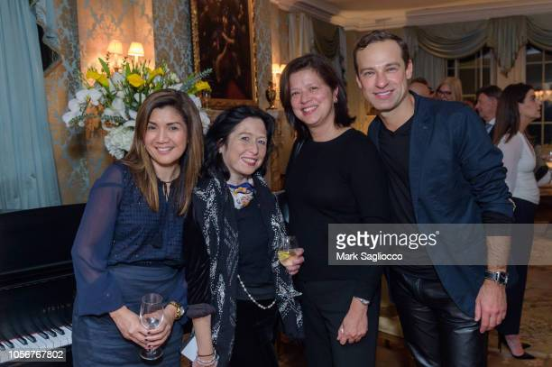 Gertie Quitangon Maria Mercader Judith Benitez and Sergey Gordeev attend Jean Shafiroff hosts a YAGP 20th Anniversary Cocktail Party at a Private...