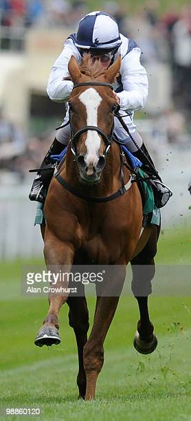 Gertrude Bell and William Buick win The Weatherbys Bank Cheshire Oaks at Chester racecourse on May 05 2010 in Chester England