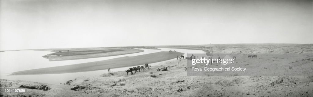 Gertrude Bell's camp on the Tigris, Samarra : News Photo