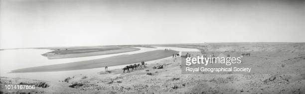 Gertrude Bell's camp on the Tigris Samarra Iraq 1909