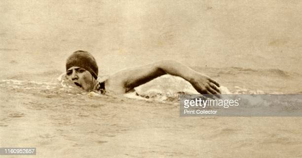 Gertrude Ederle first woman to swim the Channel 'Miss Gertrude Ederle [19052003] the young American swimmer was the first woman to swim the Channel...