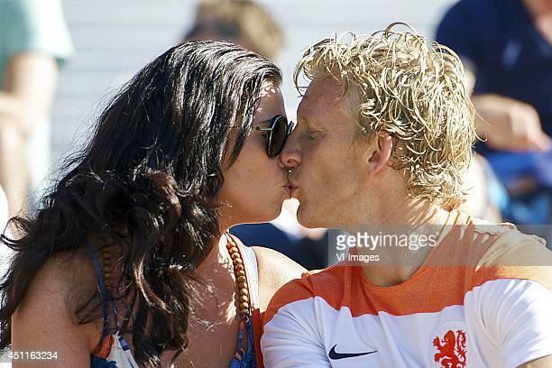 Gertrude Kuyt Dirk Kuyt of Holland during a training session of The Netherlands on June 24 2014 at Estadio da Gavea in Rio de Janeiro Brazil