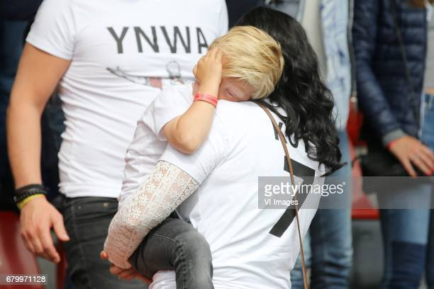 Gertrude Kuyt with son Kuytduring the Dutch Eredivisie match between sbv Excelsior Rotterdam and Feyenoord Rotterdam at Van Donge De Roo stadium on...