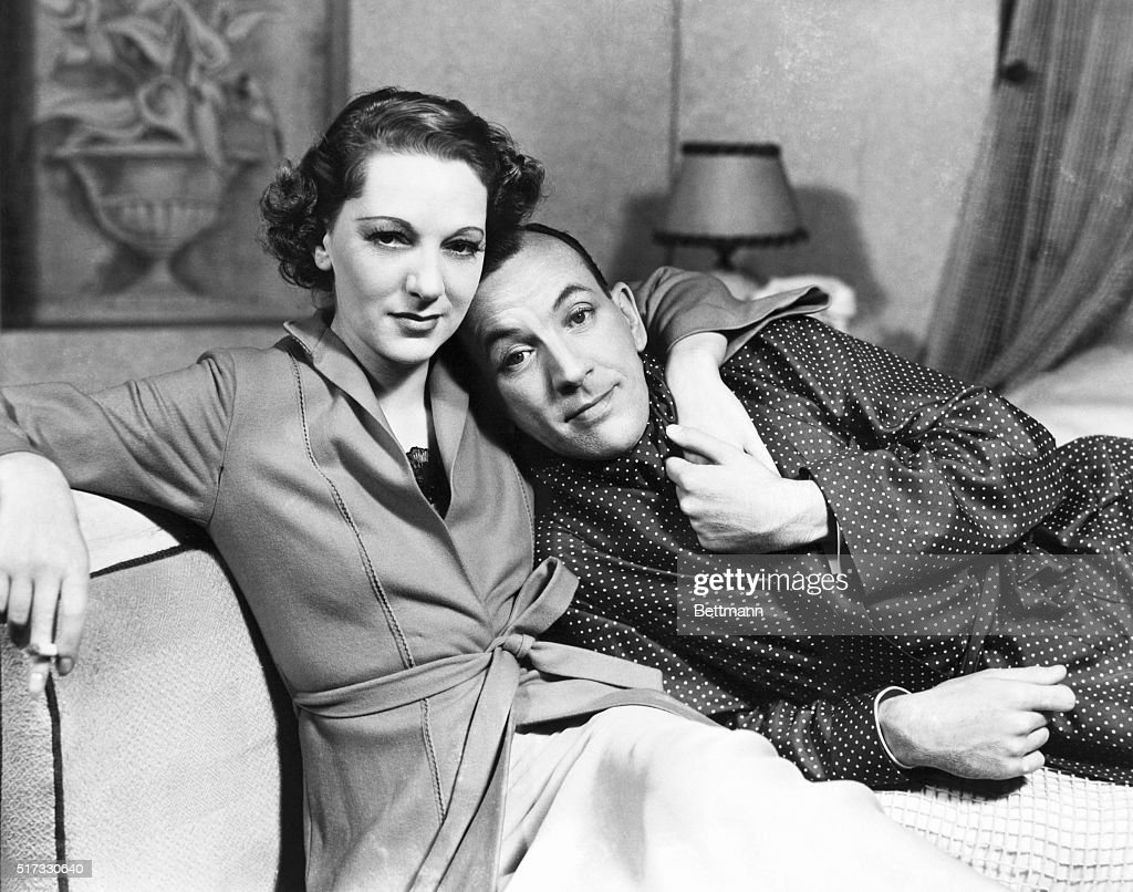 Gertrude Lawrence and Noel Coward in the play, Tonight at 8:30. Photograph, 1936.