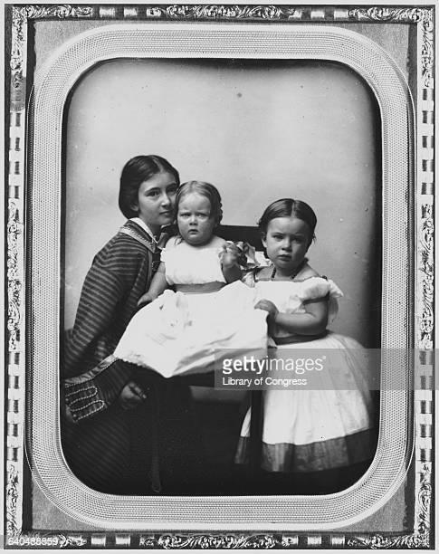 Gertrude Mercer Hubbard Grossman Roberta Wolcott Hubbard Bell and Mabel Hubbard Bell as Girls attributed to Albert Sands Southworth and Josiah...