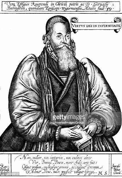 Gervase Babington English churchman: Bishop of Llandaff 1591, Exeter 1595, Worcester 1597: Queen's counsel for Welsh Marches. Three-quarter length...