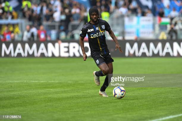 Gervinho during the Italian Serie A football match between SS Lazio and Parma at the Olympic Stadium in Rome on march 17 2019