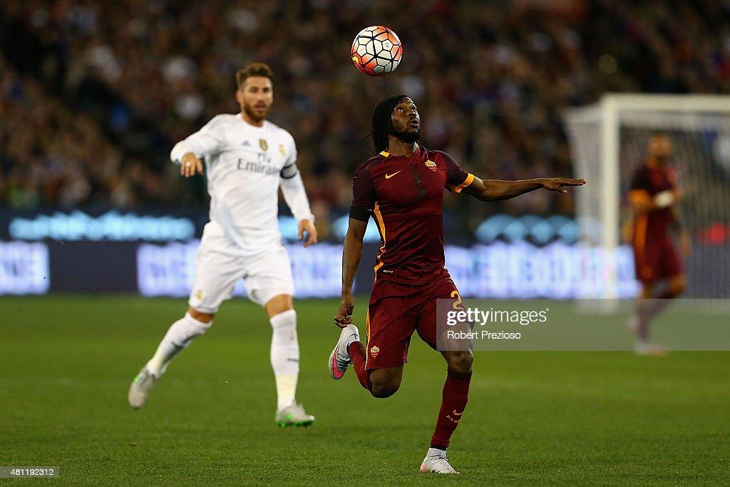Real Madrid vs AS Roma : News Photo